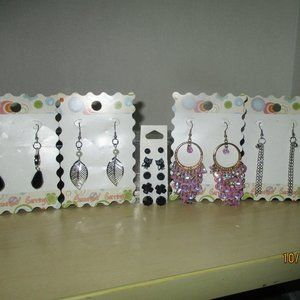 Earrings 9 pairs for ONLY $33.00 NEW